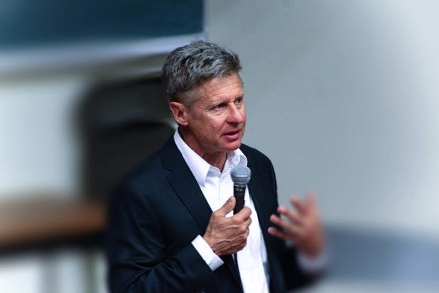 Former New Mexico Gov. Gary Johnson, the Libertarian Party's presidential nominee, participated in a CNN Town Hall on Wednesday. He was accompanied by his vice presidential running mate, former Massachusetts Gov. William Weld. Photo courtesy of Gary Johnson for President