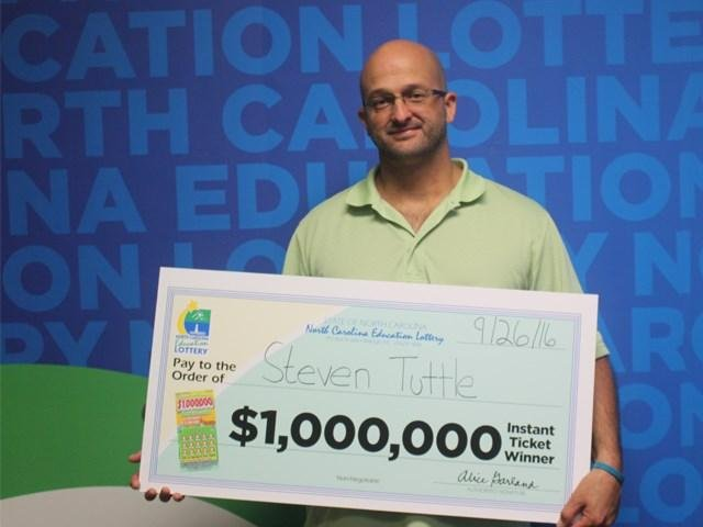 Steven Tuttle said he almost drove past the gas station where he purchased a $1 million winning scratch-off lottery ticket. Photo courtesy of the North Carolina Education Lottery