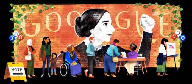 The 200th anniversary of Susan B. Anthony's birth coincides with the 100th anniversary of the 19th Amendment, which gave women the right to vote. Image courtesy of Google