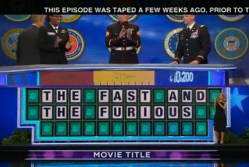 'Wheel of Fortune' apologizes for Monday's 'The Fast and the Furious' puzzle