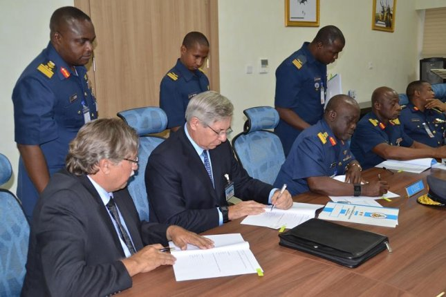 Nigerian Air Force officials meet with Comp Air Aviation to finalize light utility aircraft development plans. Photo courtesy of Comp Air Aviation