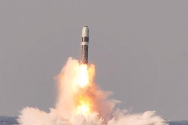 The Trident II ballistic missile is powered by an MK 6 astro-intertial guidance system, which is able to receive GPS updates. U.S. Navy photo