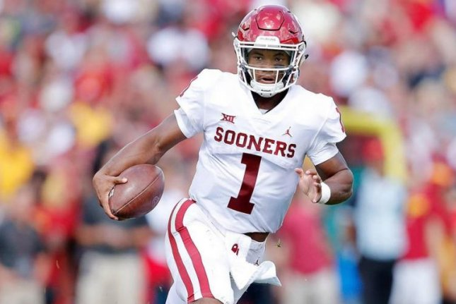 Oklahoma's new starting quarterback, Kyler Murray (1), has quickly established himself as a Heisman favorite as he steps into the shoes of 2017 Heisman winner Baker Mayfield. Photo courtesy of Oklahoma Sooners Football/Twitter