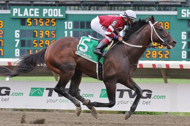 Pneumatic wins the Pegasus Stakes at Monmouth Park -- final qualifying race for the Kentucky Derby. Photo courtesy of Monmouth Park