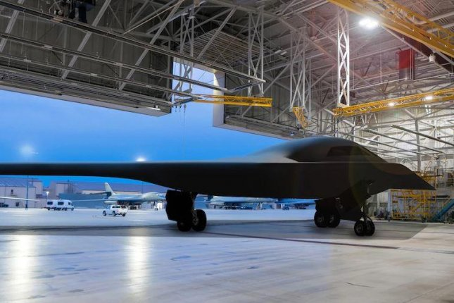The first B-21 Raider stealth bomber will fly in mid-2022, according to the U.S. Air Force, while a second plane is currently on Northrop Grumman's production line. Artist's rendering courtesy of U.S. Air Force