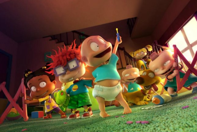 The Rugrats return, from left to right, Susie, Chuckie, Tommy, Dil and Angelica. Photo courtesy of Paramount+