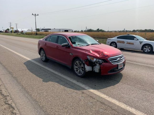 Authorities in South Dakota released a picture Monday of the car Attorney General Jason Ravnsborg was driving when he hit Joseph Boever in September. The photo was taken following the crash. Photo courtesy of South Dakota Department of Public Saftey/Website