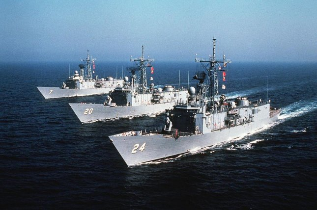 VSE Corporation is to supply and install a SMART-S Radar system on an Egyptian Oliver Hazard Perry-class frigate, the company announced this week. Pictured, Oliver Hazard Perry-class frigates in service with the U.S. Navy. Department of Defense photo