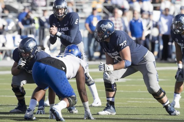 The Browns signed offensive lineman Austin Corbett (73), a second-round choice out of Nevada, and sixth-round selections Damion Ratley and Simeon Thomas. Photo courtesy of Nevada Football/Twitter