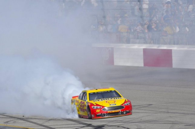 Joey Logano came from the back of the pack to win at Richmond on Sunday. Photo courtesy Joey Logano via Twitter