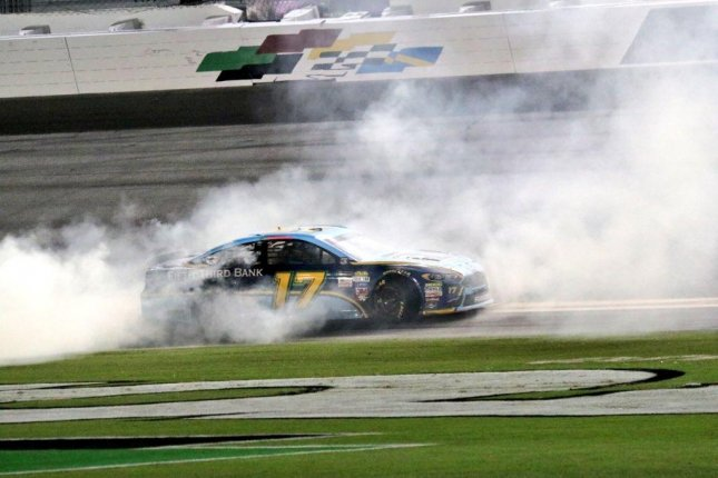 Ricky Stenhouse Jr. claimed his second career Monster Energy NASCAR Cup Series victory and his second of the season Saturday night when he took the checkered flag in the Coke Zero 400 at Daytona International Speedway. Photo courtesy of Sunoco Racing/Twitter