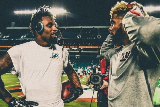 Miami Dolphins wide receiver Jarvis Landry and New York Giants wide receiver Odell Beckham Jr.'s are former college teammates and remain close friends. Photo courtesy of the Miami Dolphins.