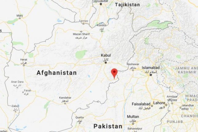 Art least 16 people died and 33 were wounded Sunday when a bomb went off inside a mosque in Khost in eastern Afghanistan. Google Maps screenshot