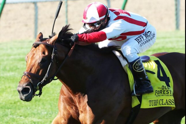 Digital Age wins the $1 million Grade I Old Forester Bourbon Turf Classic on Saturday at Churchill Downs. Photo courtesy of Churchill Downs