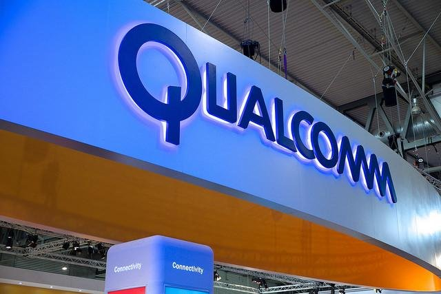Qualcomm, whose booth at the 2015 Mobile World Congress is pictured, has been hit with a fine of more than $850 million by a South Korean agency for antitrust violations. Photo by Kārlis Dambrāns/Flickr.com