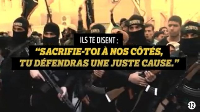 A screenshot of the French government's Stop Djihadisme video, released Jan. 28. French Interior Ministry