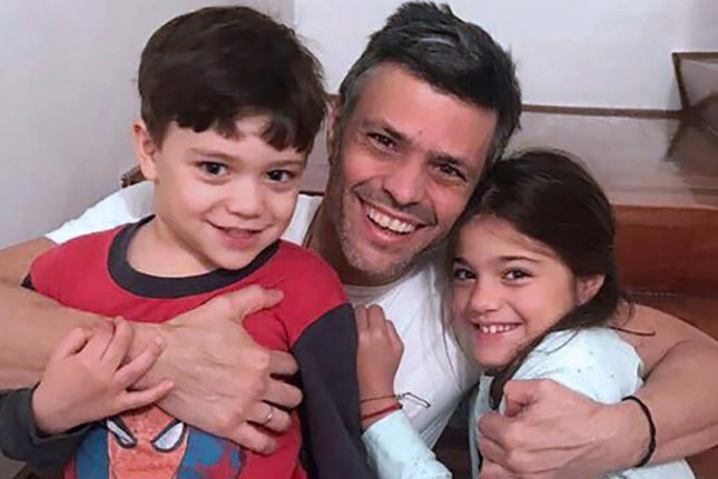 Venezuelan opposition leader Leopoldo López was transferred out of a military prison and into house arrest on Saturday, which his wife, Lilian Tintori, said was a necessary and urgent measure because of the harmful conditions in which her husband lived while imprisoned. Photo courtesy of Lilian Tintori