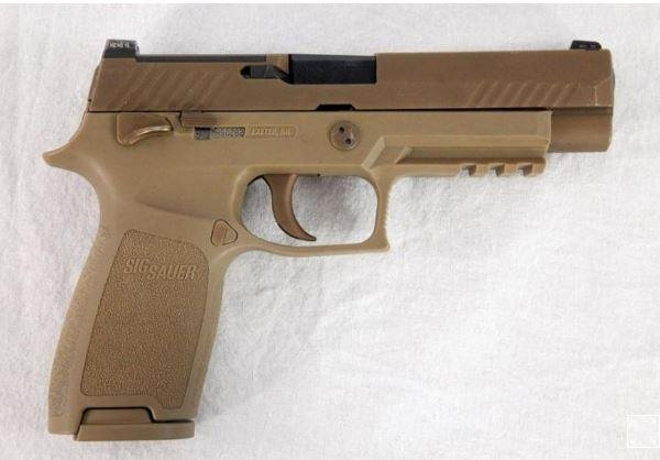 Gun manufacturer Sig Sauer Inc. received full approval of its new M17 and M18 handguns by the U.S. Army. Photo courtesy of U.S. Army