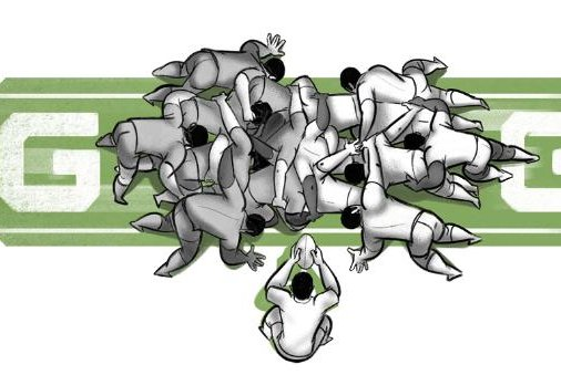 Google pays homage to the 2019 Rugby World Cup with a new Doodle. Image courtesy Google