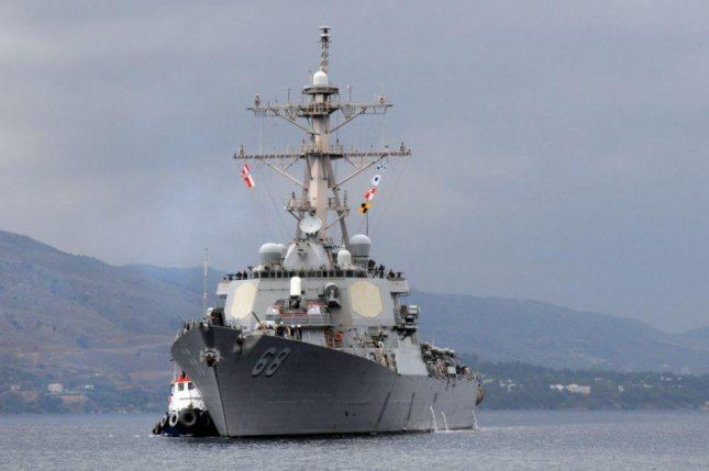 USS The Sullivans, accompanying British aircraft carrier, visits Cyprus