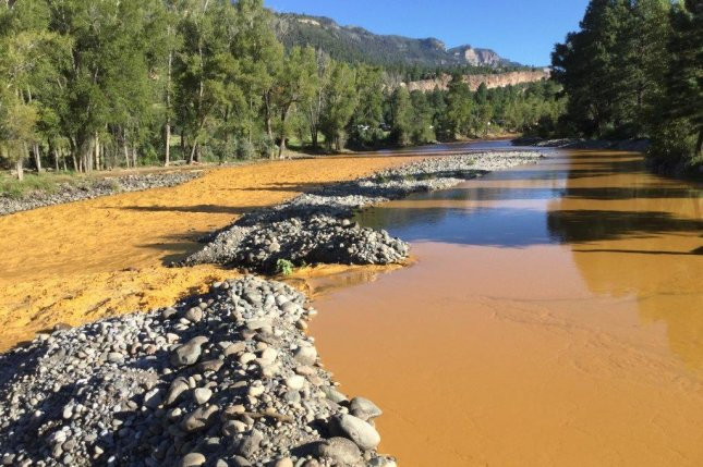 The accidental release of mine wastewater turned Colorado's Animas River bright yellow Wednesday. Photo by Office of Emergency Management in La Plata County Colorado