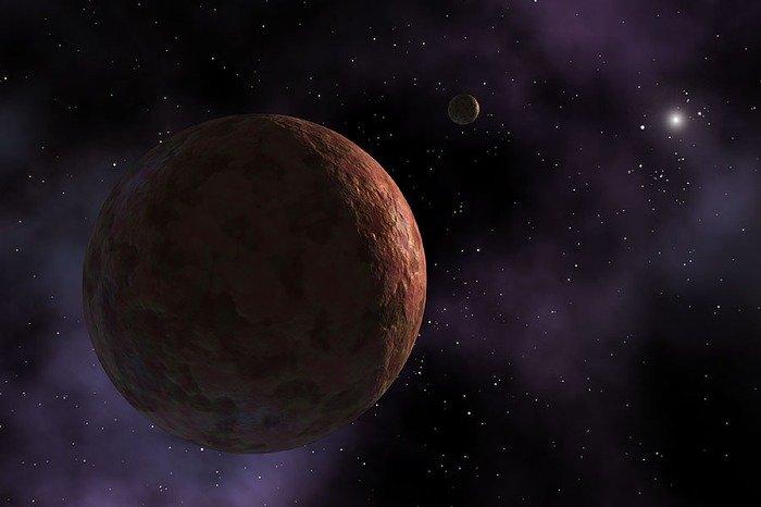 Artist's impression of dwarf planet Makemake. Credit: R. Hurt (SSC-Caltech), JPL-Caltech, NASA