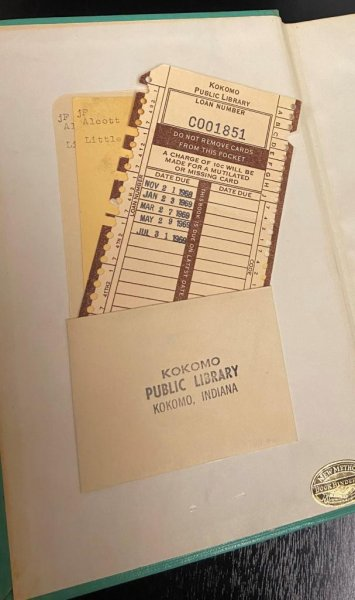 A package that arrived recently at the Kokomo-Howard County Public Library in Indiana contained a book that had been due back at the facility in 1969. Photo courtesy of the Kokomo-Howard County Public Library