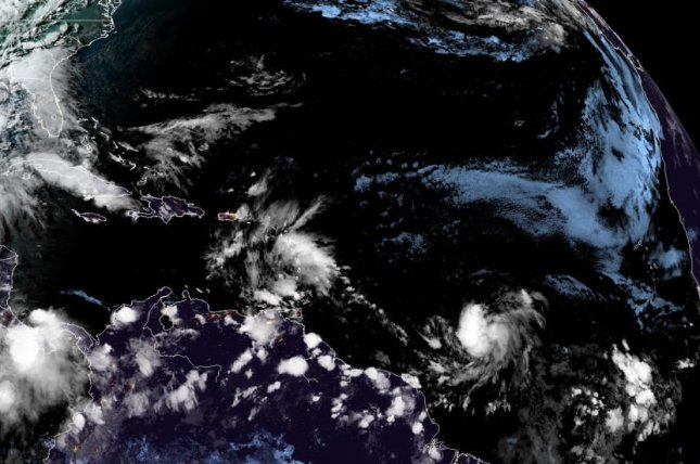 Rapidly developing tropical system taking shape over the Atlantic