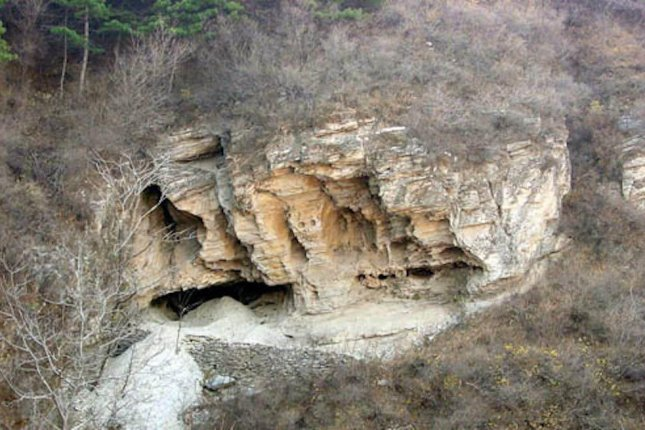 Researchers recovered genetic remains from a 40,000-year-old man in Tianyuan Cave near Beijing. Photo by Chinese Academy of Sciences