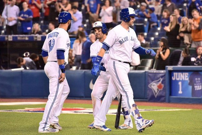 A changed approach on the mound by Bartolo Colon kept the Toronto Blue Jays off balance as the Braves won, 10-6. Photo courtesy Toronto Blue Jays/Twitter