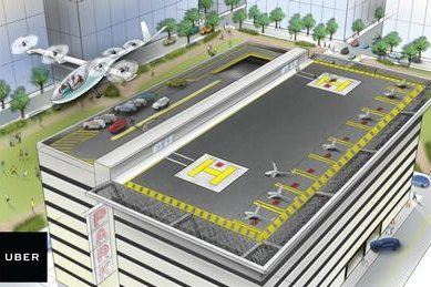 Uber will unveil design models of its flying air taxi at the Uber Elevate Summit in Los Angeles on Tuesday. Image courtesy of Uber