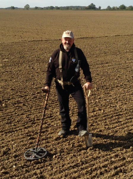 A British man with a metal detector found nearly 100 silver pennies dating back 1,000 years on a farmer's property. Photo courtesy of Dix Noonan Webb Auctions