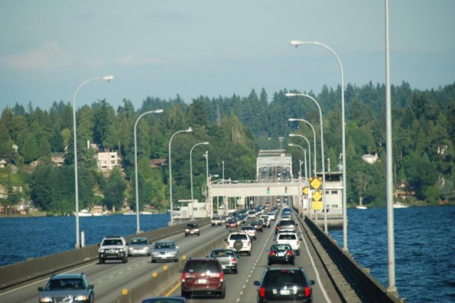 The 520 bridge linking Seattle to Bellevue in Washington state. A man recently received a bill of $18,000 for his son's unpaid tolls on the bridge. Photo by chispita_666/CC/Flickr