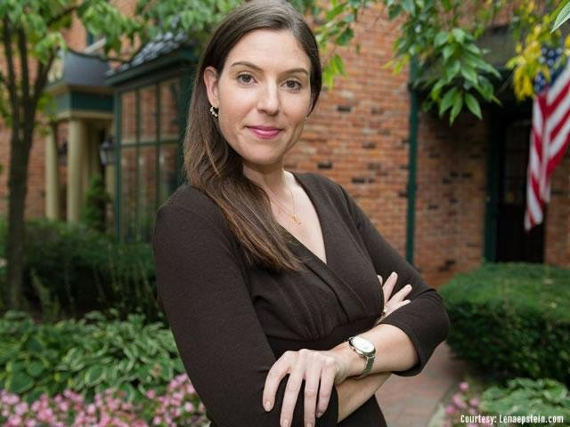 Republican Lena Epstein, 37, one of the five state campaign co-chairs Donald Trump appointed who steered Michigan to the surprise 10,000-vote victory that helped seal his Electoral College win. Photo courtesy of LenaEpstein.com