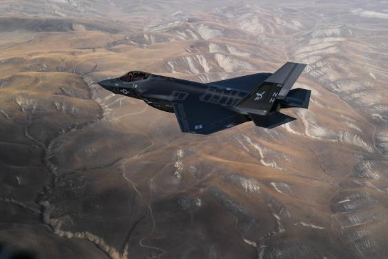 U.S. Navy F-35C variant of the Joint Strike Fighter is shown here during flight testing. The Navy does not expect the model to be fully operational until next year. Photo by Chief Petty Officer Shannon Renfroe/Navy Public Affairs Support Element West