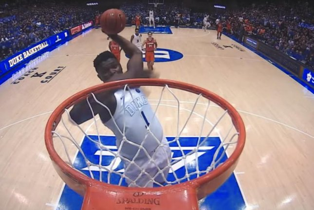 ada964818ba1 6 (UPI) -- Duke freshman phenom Zion Williamson added yet another dunk of  the year candidate to his arsenal during a thrashing of Clemson.
