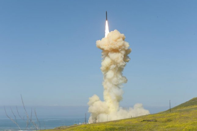 The lead ground-based interceptor is launched from Vandenberg Air Force Base, Calif., and successfully intercepted a target launched from the Ronald Reagan Ballistic Missile Defense Test Site on Kwajalein Atoll on Monday. Photo courtesy Missile Defense Agency