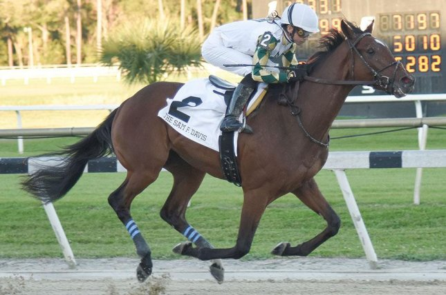 Sole Volante wins Saturday's Grade III Sam F. Davis at Tampa Bay Downs, jumping into the Kentucky Derby picture. Photo courtesy Tampa Bay Downs