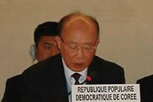 So Se Pyong, North Korea's ambassador to the U.N. in Geneva, defended Pyongyang's activities at its satellite launching station. File Photo by Yonhap