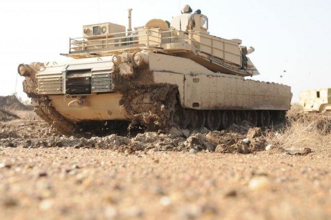 An Iraqi Army M1A1 Abrams fighting the Islamic State in Hit as earned the nickname The Beast. Pictured, and Iraqi tank at Camp Taji, Iraq. U.S. Army photo by Sgt. Chad Menegay