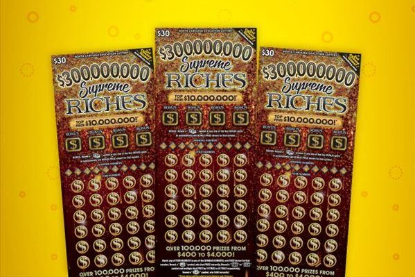 A Florida man visiting his sister in North Carolina splurged on a $30 scratch-off lottery ticket and won a $100,000 jackpot. Photo courtesy of the North Carolina Education Lottery