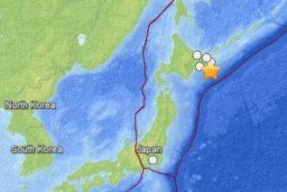 5.5-Magnitude earthquake strikes off the coast of Japan