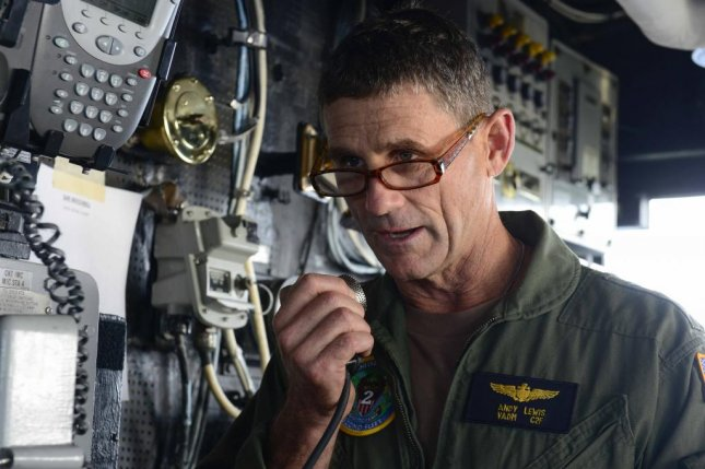 Vice Adm. Andrew Woody Lewis, pictured aboard the USS Normandy in 2018, declared the re-established U.S. 2nd Fleet officially operational on Wednesday. File Photo by Mass Communication Specialist 3rd Class Michael Chen/U.S. Navy