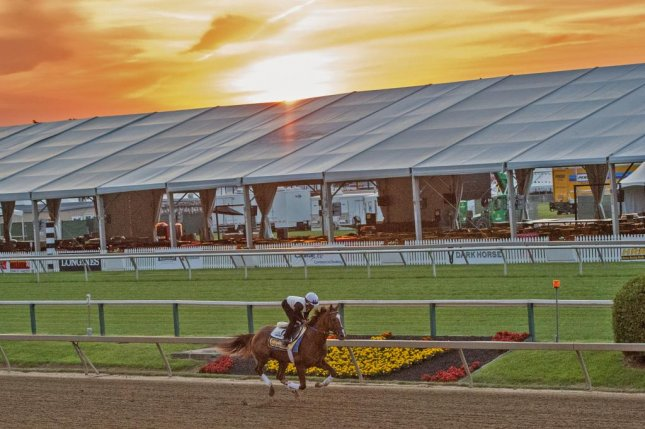 Dawn breaks over Old Hilltop just two days before Always Dreaming tries to win the second jewel of the US Triple Crown -- the Preakness Stakes at Pimlico. Photo courtesy of Jim McCue/MJC