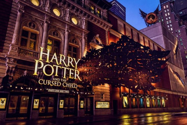Broadway marquee unveiled for 'Harry Potter and the Cursed