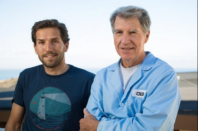 Antonio Currais and David Schubert, researchers at the Salk Institute in California, found an experimental drug appeared to reverse the effects of aging in mice with Alzheimer's disease-like symptoms. Photo by Salk Institute for Biological Studies