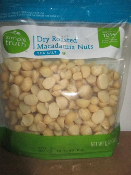 Simple Truth Dry Roasted Macadamia Nuts and Ava's Organic Roasted and Salted Cashews were recalled for possible Listeria contamination. No illnesses have been reported. Photo courtesy of U.S. Food and Drug Administration
