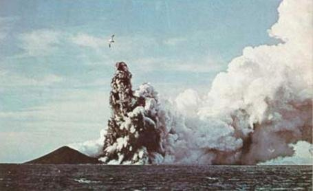 An eruption from a submarine vent off of the south coast of Iceland in 1963 closely resembled a 1939 eruption of Kick'em Jenny in the Caribbean, scientists said. Photo courtesy Trinidad and Tobago Weather Center/Twitter