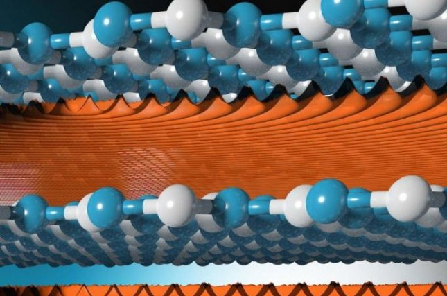 The gap between the 2D layers in metamaterials like hexagonal boron nitride or molybdenum disulphide is fine enough to separate hydrogen isotopes. Photo by University of Manchester