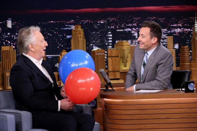Alan Rickman and Jimmy Fallon on The Tonight Show. NBC